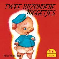 Pixi, Pixi-boekje, Twee bijzondere biggetjes, Ferkelchen, big, varken, Otto, Bobo, Klassiek, slapen, moe, eten, scheuren, Pixie, Vier, Windstreken