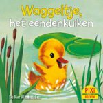 Pixi, Pixi-boekje, Waggeltje het eendenkuiken, Die kleine Watschel-Ente, eend, platvoeten, zwemvoeten, voeten, wedstrijd, spelletjes, winnen, verliezen, zwemmen, Pixie, Vier, Windstreken