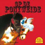 Pixi, Pixi-boekje, Op de Ponyweide, Im Ponygarten, pony, paarden, manege, rijschool, paardrijden, kinderen, Pixie, Vier, Windstreken
