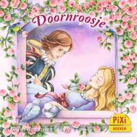 Pixi, Pixi-boekje, Doornroosje, Dornröschen, prins, prinses, spinnewiel, feeën, slapen, prikken, sprookje, Pixie, Vier, Windstreken