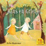 Pixi, Pixi-boekje, Hans en Grietje, Hänsel und Gretel, sprookje, kiezelsteentjes, heks, huisje van koek, vetmesten, kippenbotje, arm, Pixie, Vier, Windstreken