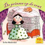 Pixi, Pixi-boekje, De prinses op de erwt, Die Prinzessin auf der Erbse, erwt, matrassen, echte prinses, trouwen, slapen, niet kunnen slapen, sprookje, Pixie, Vier, Windstreken