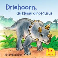 Pixi, Pixi-boekje, Driehoorn de kleine dinosaurus, dinosaurussen, dino, dino's, tyrannosaurus rex, informatief, planteneter, Pixie, Vier, Windstreken