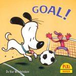 Pixi, Pixi-boekje, Goal!, hond, Fred, voetbal, wedstrijd, scoren, winnen, Pixie, Vier, Windstreken