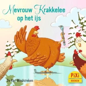 Mevrouw, Krakkelee, op, het, ijs, kerst, vier windstreken, pixi, pixie, pixy