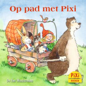 Op, pad, met, Pixi, pixie, boekjes, prentenboeken, vier, windstreken