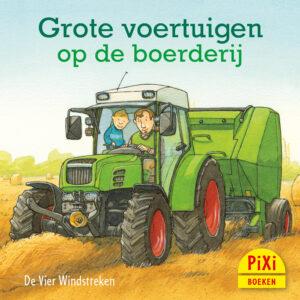 Grote voertuigen op de boerderij, boerderij, Pixi, pixie, boekjes, prentenboeken, vier, windstreken